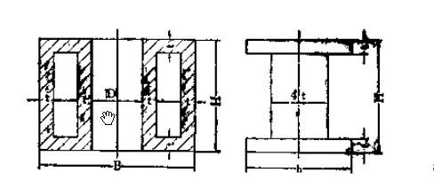 四柱液压机上横梁受力对称剖面