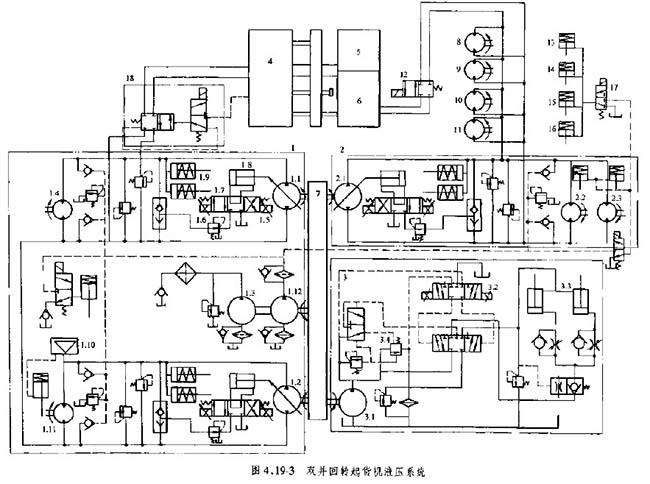 四柱液压机液压原理图